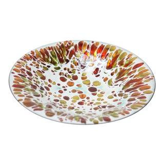 Mid-Century Modern Multicolor 'Confetti' Enamel on Copper Dish For Sale