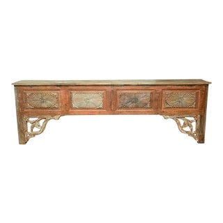 Antique Sunburst Console Table