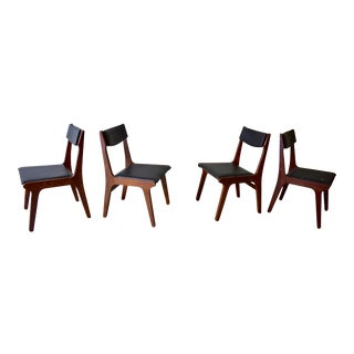 Mid Century Modern Rosewood Dining Chairs - Set of 4