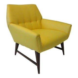 Mid Century Upholstered Lounge Chair For Sale
