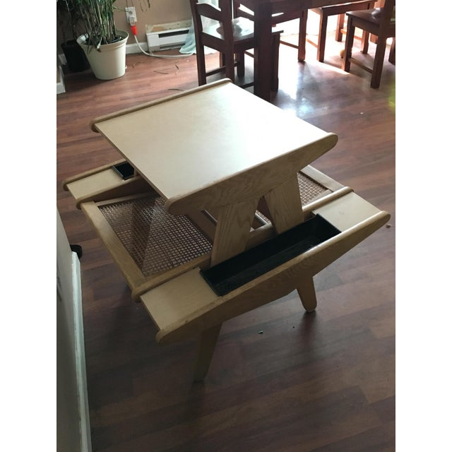 Vintage Mid-Century Modern Side Table With Planters - Image 5 of 6