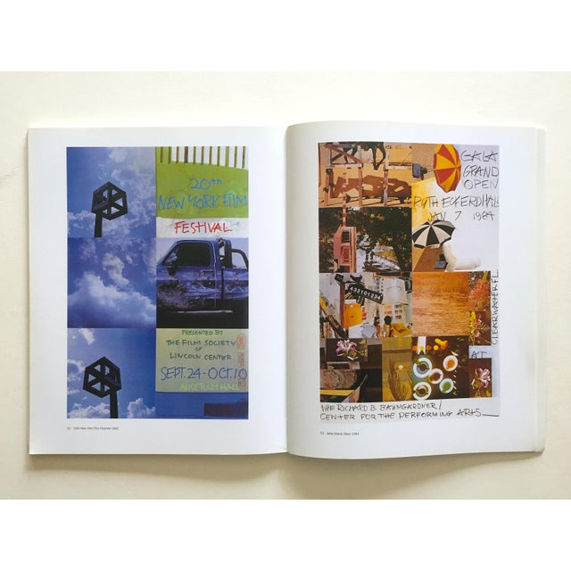 "This rare first edition collector's lithograph print Modern Art book titled "" Rauschenberg Posters "" features a monograph..."