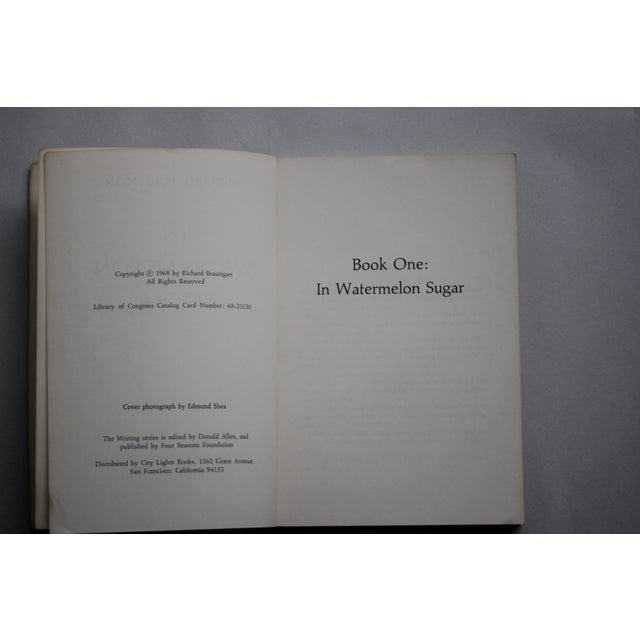 Brautigan's 1st Ed. 'In Watermelon Sugar' Book For Sale - Image 4 of 6