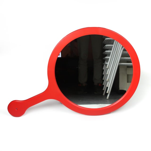 Postmodern 1990s Red Dyrvik Wall Mirror by Ikea For Sale - Image 3 of 10