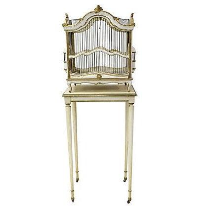 Florentine Birdcage & Pedestal - Image 1 of 7