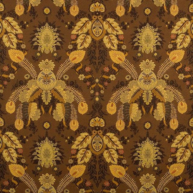 Victorian Suzanne Tucker Home Fleur De Plume Jacquard in Nutmeg For Sale - Image 3 of 3