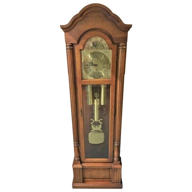 Dark Wood Grandfather Clock - Image 1 of 9