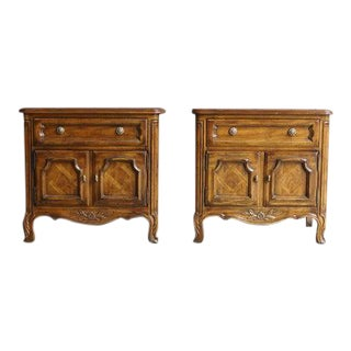 Late 20th Century Drexel Heritage Cabernet Collection Nightstands-a Pair For Sale