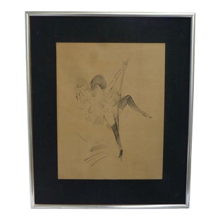 "Marcel Vertes ""Rope Dancer"" Original Lithograph"
