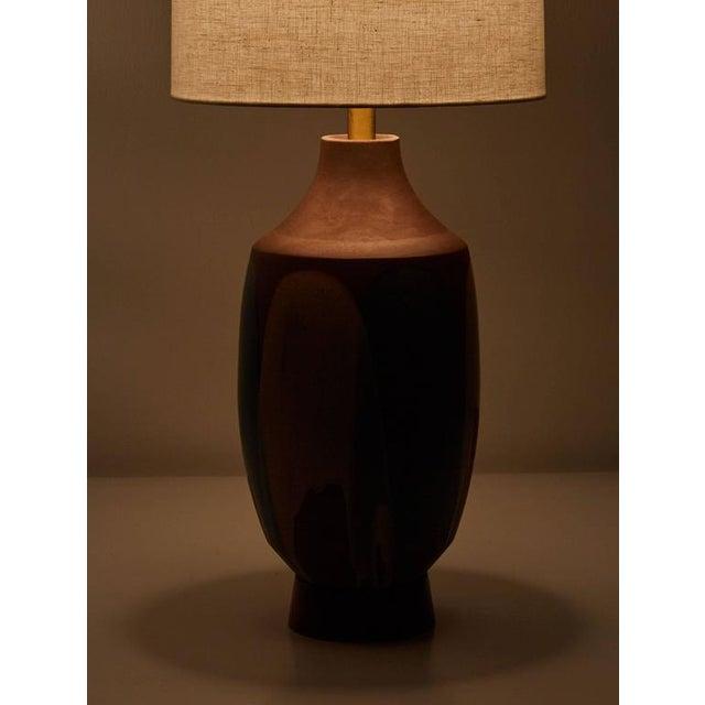 Ceramic Drip Glaze Table Lamp by David Cressey - Image 4 of 6