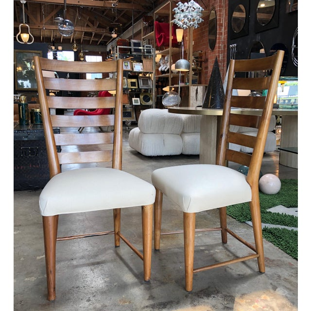 Modern Gio Ponti Ladderback Chairs, Italy, 1940s - a Pair For Sale - Image 3 of 13
