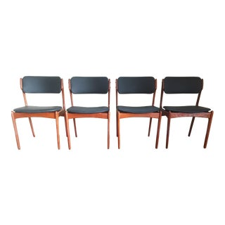 Vintage Erik Buch Teak Dining Chairs - Set of 4
