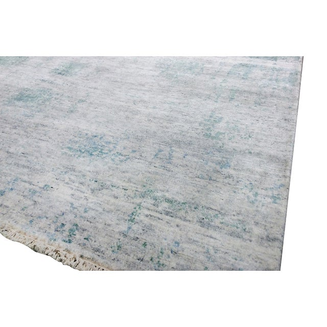 Pasargad's Aqua Silk Collection Rug - 9' x 12' - Image 4 of 6