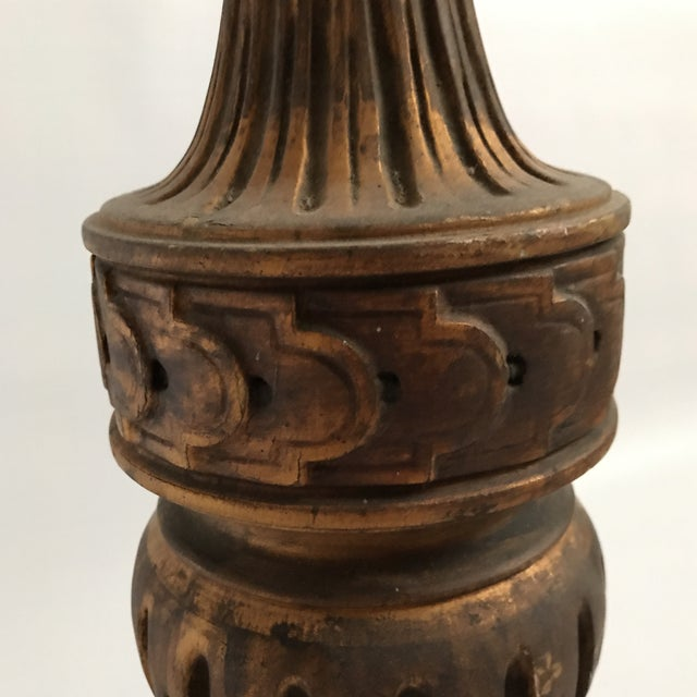Metal Antique Gold Table Lamp For Sale - Image 7 of 11