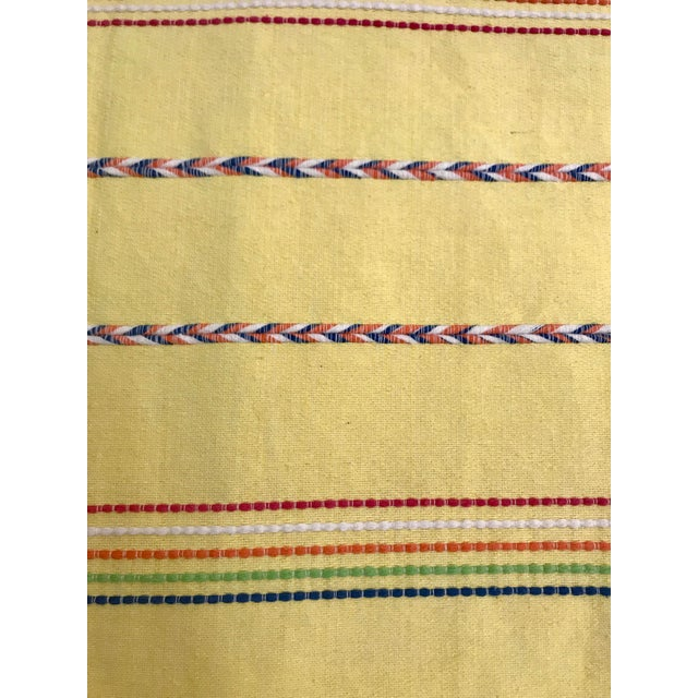 Yellow Throw Blanket With Fringe For Sale - Image 5 of 8