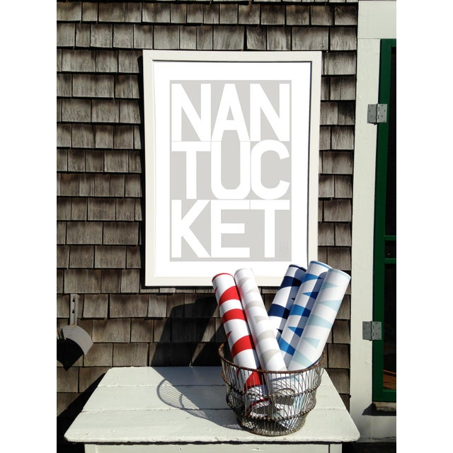 Contemporary Nantucket Graphic Fog Gray Fine Art Print by Liz Roache For Sale - Image 3 of 4