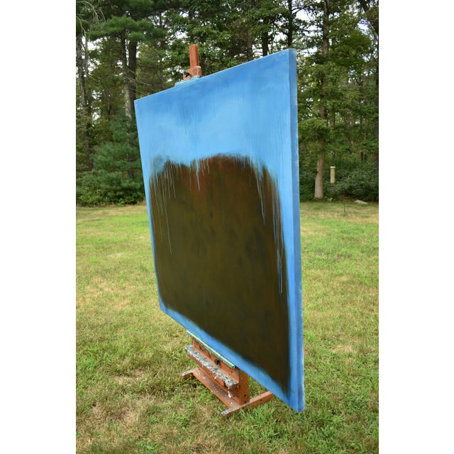 Blue Large Abstract Painting by Stephen Remick For Sale - Image 8 of 11