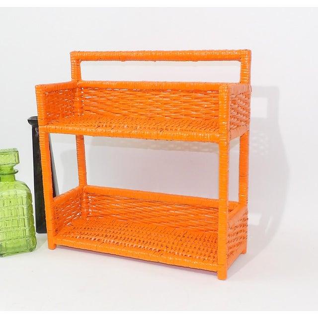 Orange Wicker Wall Shelf - Image 6 of 11
