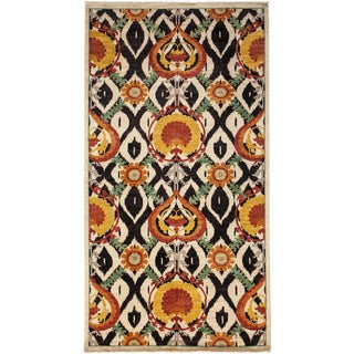 """Arts & Crafts Hand Knotted Area Rug - 5'3"""" X 9'8"""" For Sale"""