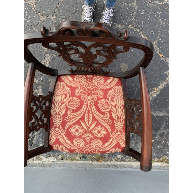 Antique Jacobean Accent Chair For Sale - Image 11 of 13