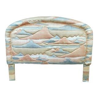 Vintage Upholstered Queen Headboard For Sale