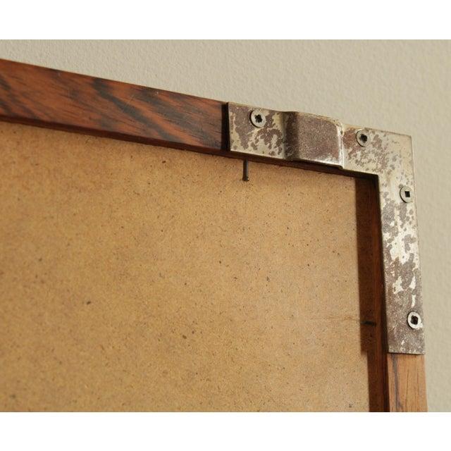 Danish Modern Mid Century Rosewood Rectangular Wall Mirror For Sale - Image 12 of 13