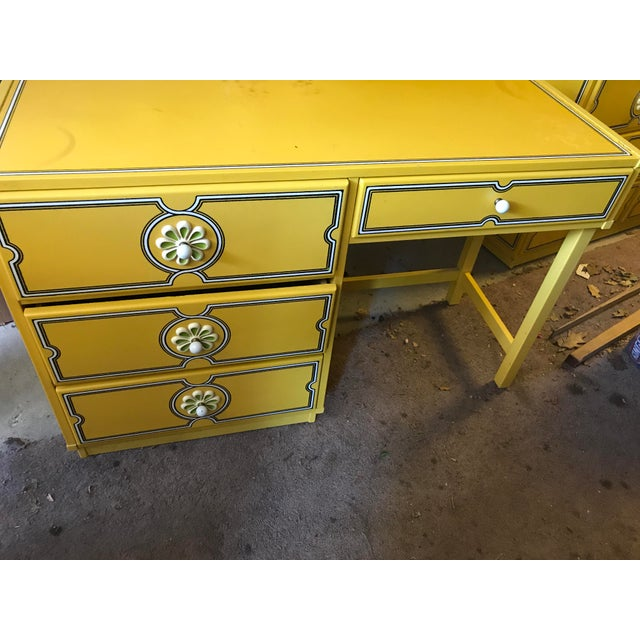 Mid-Century Modern 1960s Vintage Drexel Flower Power Desk For Sale - Image 3 of 5