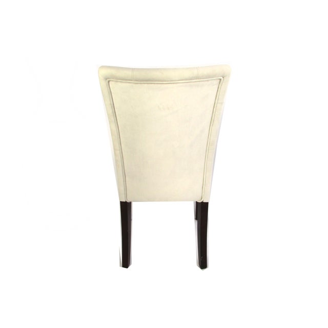 Ivory Microsuede Side Chairs - A Pair - Image 4 of 5