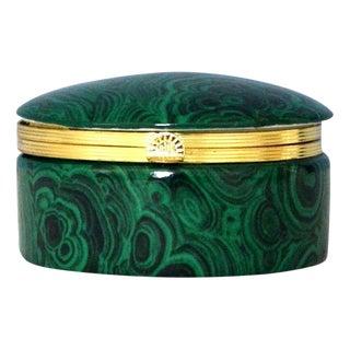 Frederick Cooper Faux Malachite & Brass Box | Gift Ideas For Sale