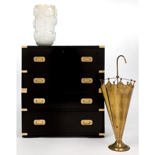 English Campaign Style Secretary Chest - Image 5 of 11