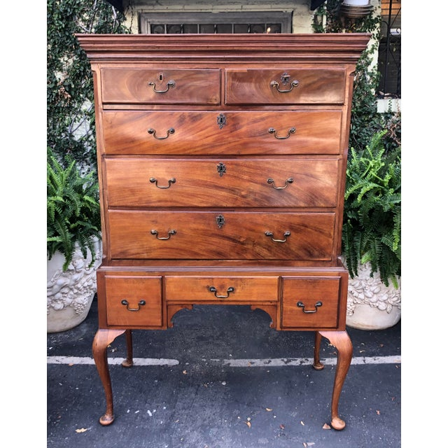 18th Century Antique Mid 18th C George II Mahogany Chest on Stand For Sale - Image 5 of 7