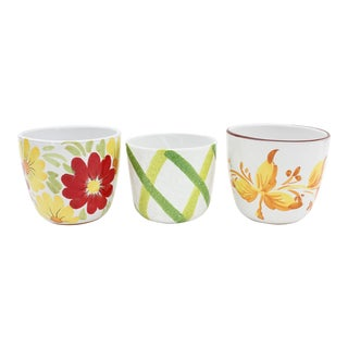 Italian Art Pottery Planters - Set of 3 For Sale