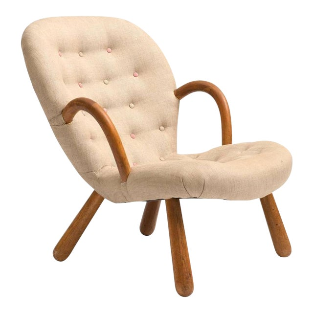 Clam Chair by Philip Arctander, 1940s For Sale