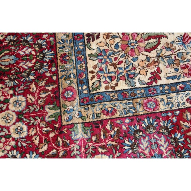 1900s, Handmade Antique Persian Kerman Lavar Rug 8.9' X 11.6' - 1b701 For Sale - Image 10 of 13