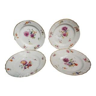Saxon Flower Royal Copenhagen decorative Plates - Set of 4 For Sale
