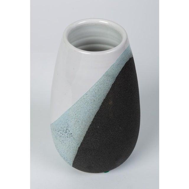 Black Glazed Ceramic Vase by Ettore Sottsass for Bitossi For Sale - Image 8 of 12