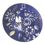 Image of Bjorn Wiinblad for Rosenthal Mid Century Blue and White Porcelain Wall Plate or Platter For Sale