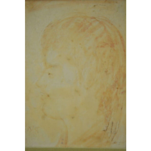 Pascal Cucaro Profile Portrait Oil on Board - Image 2 of 9