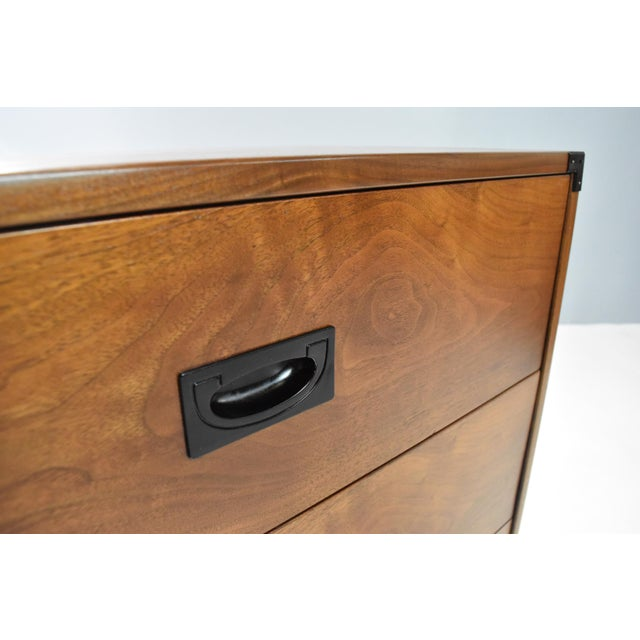 Mid- Century Campaign Style Chests by Drexel - a Pair For Sale - Image 9 of 13