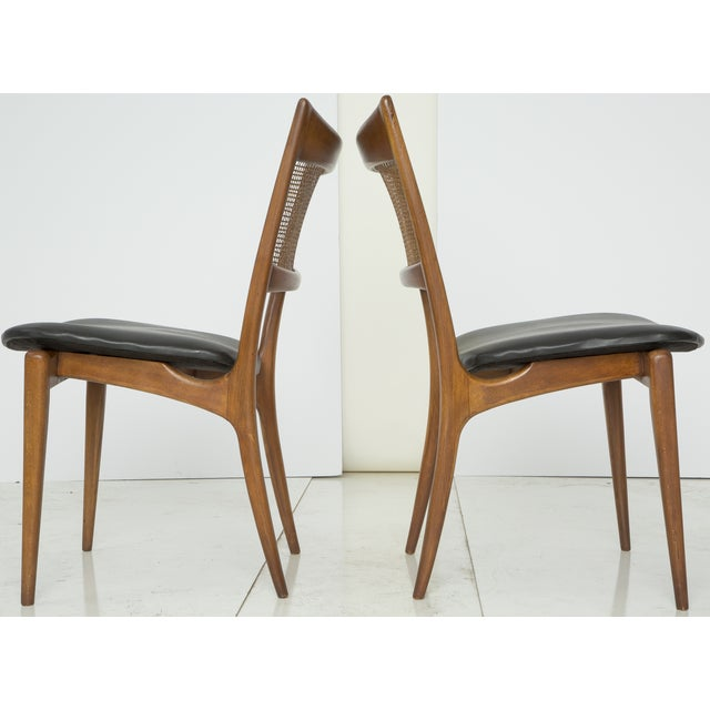 Jens Risom Style Woven Back Chairs - Pair - Image 6 of 9