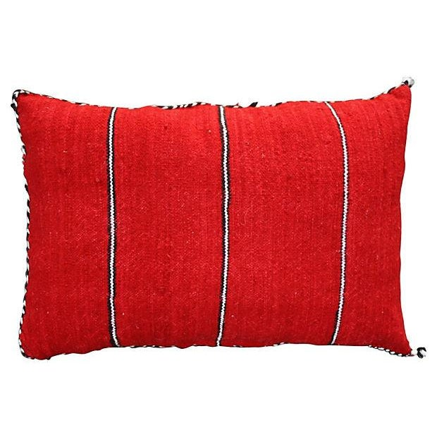 Handwoven pillow sham with organic wool by the Berbers in the Middle Atlas mountains of Morocco. Featuring an amazing...