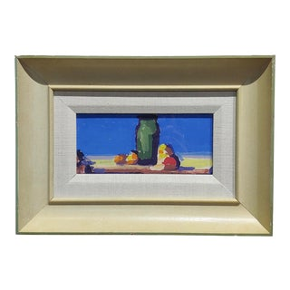 Deep Blue Sky Landscape Oil Painting by Conrad Buff For Sale