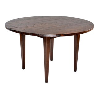 19th Century Round Chestnut Farm Table For Sale