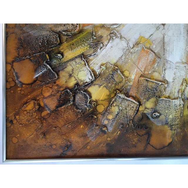 Mid-Century Abstract Modern Painting, Signed - Image 5 of 9