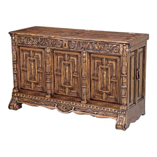 Scarborough House Carved Burl Plasma Console For Sale