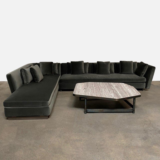Mid-Century Modern Minotti 'Seymour' Sectional W/ Left Chaise For Sale In Los Angeles - Image 6 of 9