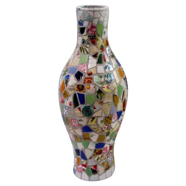 Large Handmade Mosaic Floor Vase Urn - Image 1 of 11