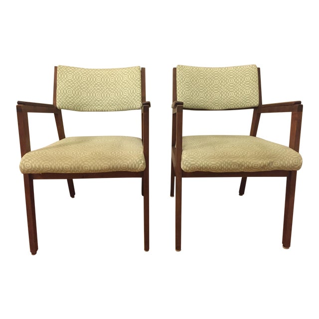 Alma Mid-Century Walnut Chairs - A Pair For Sale