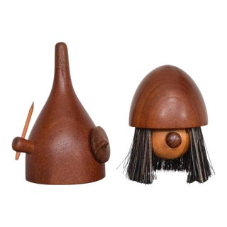 Midcentury Danish Modern Teak Viking Toy Brush Laurids Lonborg Kay Bojensen For Sale