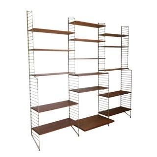 String Wall Unit Ladder Shelf by Nils Nisse Strinning, 1960s, Sweden For Sale